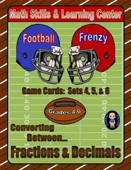 Football Frenzy Game Cards (Converting Fractions to Decima