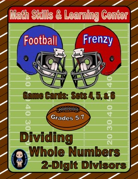 Football Frenzy Game Cards (Division with 2-Digit Divisors) Sets 4, 5, 6