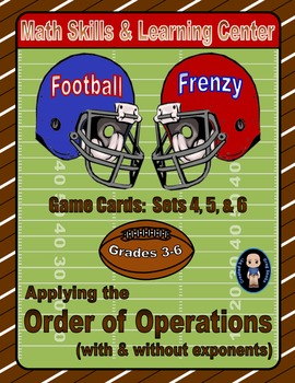 Football Frenzy Game Cards (Order of Operations) Sets 4-5-6