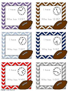 Football Frenzy: I Have, Who Has Math Games
