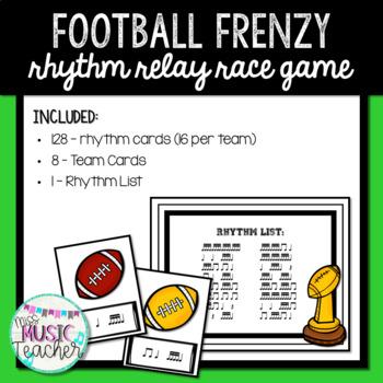 "Football Frenzy ""Tika-Tika"" Rhythm Relay Race Game"