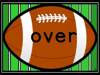 Football Fry Second 100 Words Sight Word Flashcards and Posters