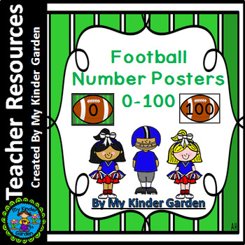 Football Full Page Number Posters 0-100