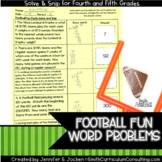 Football Fun Facts (4th-5th) Solve and Snip Interactive Wo