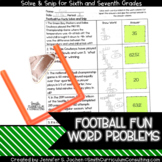 Football Fun Facts (6th-7th) Solve and Snip® Interactive W