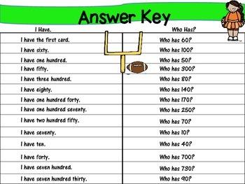 Math GAMES BUNDLE ~ Football Fun I have. Who has?