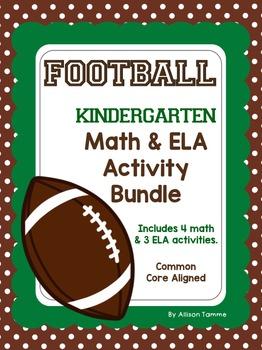 Football Fun - Kindergarten Math and ELA Activities