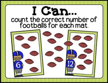 Football Fun: Literacy and Math Centers