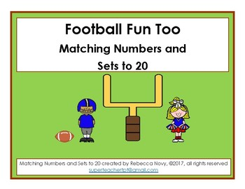 Football Fun - Matching Numbers and Sets