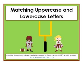 Football Fun - Matching Uppercase and Lowercase letters