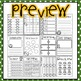 Football Fun Quick Prints for Kindergarten : No Prep