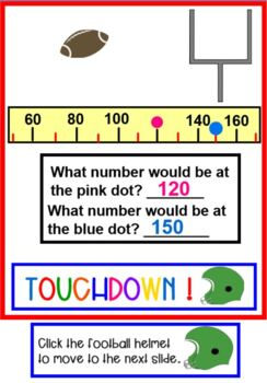 Football Fun with NUMBER LINES SMARTBOARD