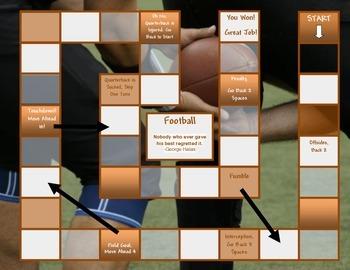 Football Game Board Template