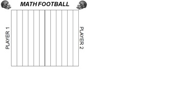 Football Game Board- use with worksheets, integers, FUN!