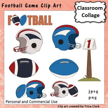 Football Game Clip Art  Color  personal & commercial use