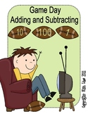 Instant Math Football Game Day Adding and Subtracting 1, 10 and 100