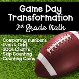 Football Themed Game Day! (Classroom Transformation for 1st or 2nd Grade Math)