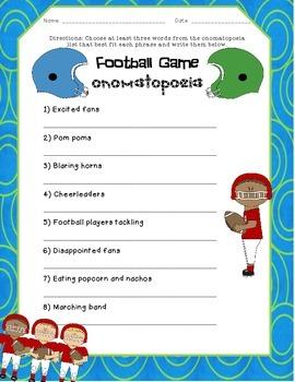 Football Game: Onomatopoeia