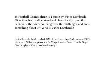 Football Genius by Tim Green (flash cards)