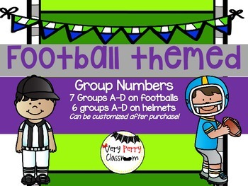 Football Group Numbers