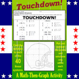 Touchdown! - A Math-then-Graph Activity - Solve 40 Systems
