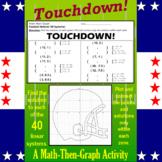 Touchdown! - A Math-then-Graph Activity - Solve 40 Systems