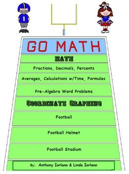 Football, Pre-Algebra Word Prob., Helmet, Stadium, Coordinate Graphing & Drawing