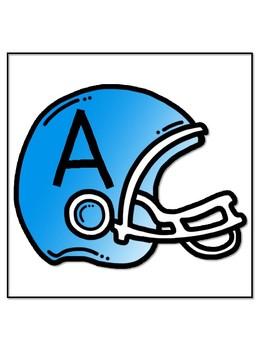 Football Helmet Word Wall Letters