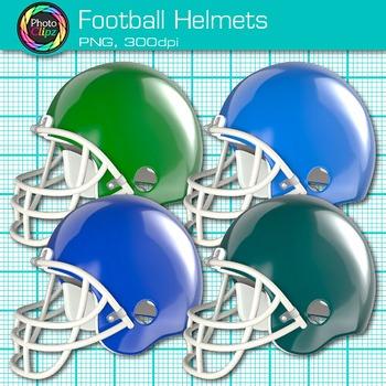 Rainbow Football Clip Art {Sports Equipment for Physical Education Teachers}