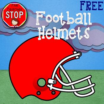 Football Helmets - FREE Clipart {The Teacher Stop}