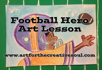 Football Hero Art Lesson