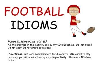 Football Idioms Free Activity