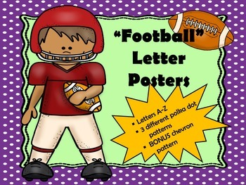 """""""Football"""" Inspired Alphabet Posters"""