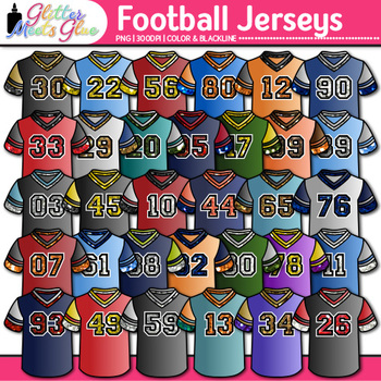 Football T-Shirt Clip Art {Physical Education Sports Jerse