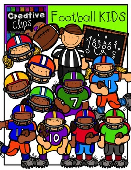 Football KIDS {Creative Clips Digital Clipart}