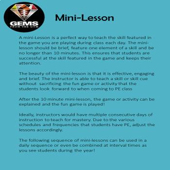 Football Kickoff Physical Education Mini-Lesson Bundle!