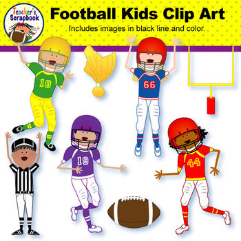 Football Kids Clip Art