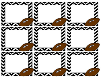 Football Labels - Great for Name Tags or Supply Labels