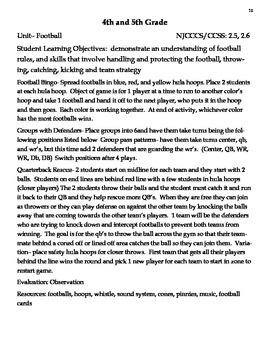 Football PE Lessons