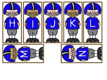 Football Letter Matching