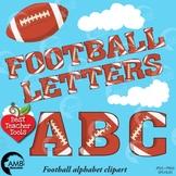 Football Letters Clipart, Alphabet Clipart, Sports Clip Art, AMB-1842