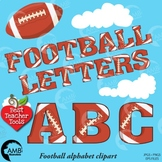 Football Letters Clipart, Alphabet Clipart, Sports Clip Ar