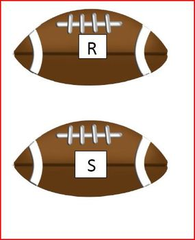 Football Literacy Center Match Beginning Sounds