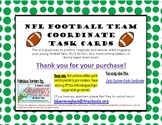 Football Longitude and Latitude Coordinate Task Cards