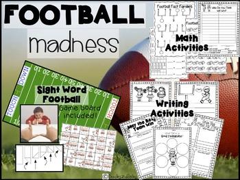 Superbowl Football First Grade | Math, Literacy, Sight Word Activities
