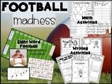 Superbowl Football First Grade   Math, Literacy, Sight Wor
