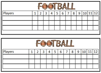 Main Idea and Details: Football