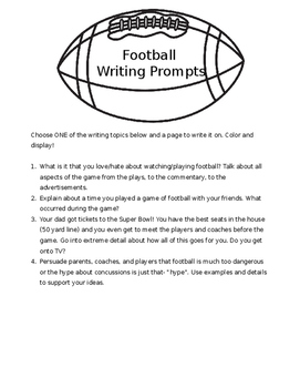 Football Main Idea and Supporting Details Interactive Activity