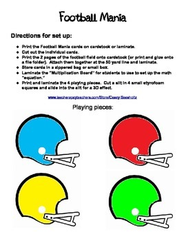 Football Mania Math Game: Multiply, Add, Subtract, Use Odd and Even Numbers