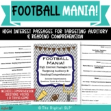 Football Mania: High Interest Passages for Reading & Audit